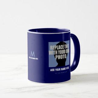 laden Sie Ihr eigenes Bild, stellen Sie blaues Tasse