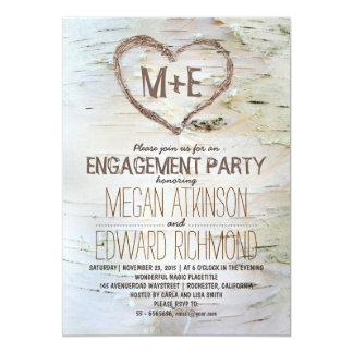 Lädt rustikales Verlobungs-Party des 12,7 X 17,8 Cm Einladungskarte