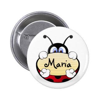 Ladybug Runder Button 5,1 Cm