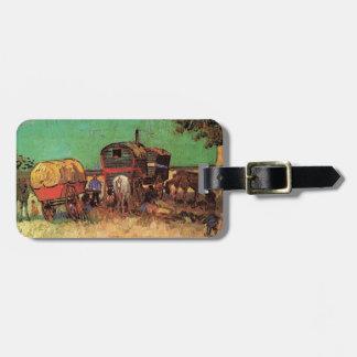 Lager der Sinti und Roma mit Wohnwagen, Van Gogh Kofferanhänger