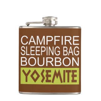 Lagerfeuer-Schlafsack Bourbon Yosemite Flachmann