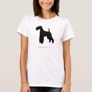 Lakeland-Terrier-T - Shirt (schwarze Silhouette)