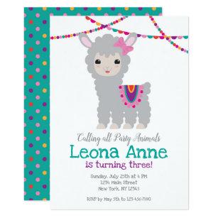 Lama Alpaka Geburtstags Einladung Einladung