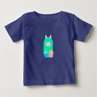 Lama Emoji Film-Liebhaber Baby T-shirt