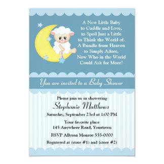 Lamm-und Mond-Babyparty 12,7 X 17,8 Cm Einladungskarte