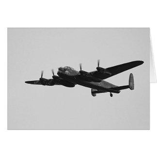 Lancaster-Bomber-Fliege vorüber Karte