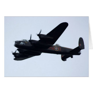 Lancaster-Bomber im Flug Grußkarte
