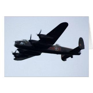 Lancaster-Bomber im Flug Karte