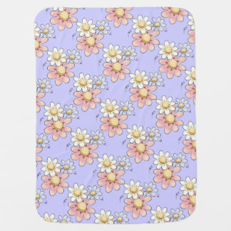 Land-Blumen-Flieder Unisex Babydecke