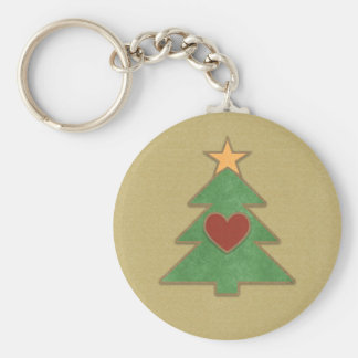 Land-Einklebebuch-Art-Weihnachtsbaum Keychain Schlüsselanhänger