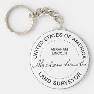 Land-Feldmesser-Siegel Abraham Lincoln US Schlüsselanhänger