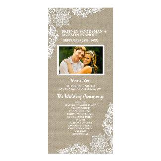 Land-Foto-Leinwand-und Spitze-Hochzeits-Programme Werbekarten