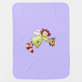 Land-Garten-Engels-Lavendel lila Babydecke