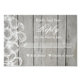 Land-graue Hochzeits-Wartekarte 8,9 X 12,7 Cm Einladungskarte