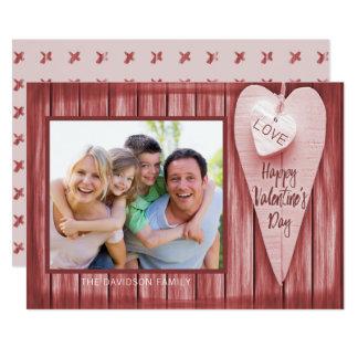 Land-Herz-Scheunen-Holz-Valentinstag Karte