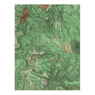 Land-Klassifikations-Karte von Kalifornien Postkarte
