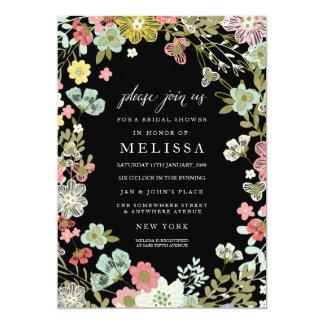 Land-laden Blumengarten-Brautparty ein 12,7 X 17,8 Cm Einladungskarte