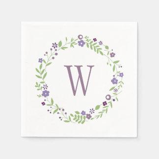 Land-Mit Blumenlila der Hochzeits-Servietten-| Serviette