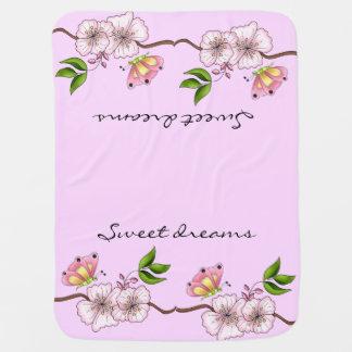 Land-rosa süße Traum-Mädchens Kinderwagendecke