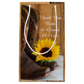 Land-Sonnenblume-Western-Hochzeit danken Ihnen Kleine Geschenktüte