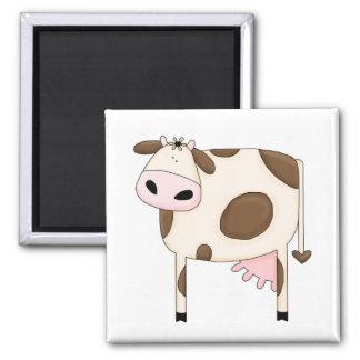 Land-Spaß-alberne Kuh-lustiger Magnet Quadratischer Magnet