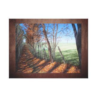 """Land-Straßen-"" Kunst-Landschaft Leinwanddruck"