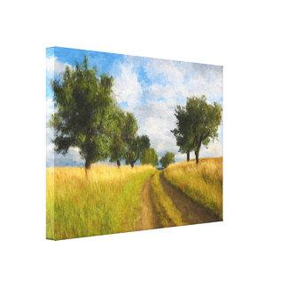 Land-Straßen-Landschaftsmalerei Leinwanddruck