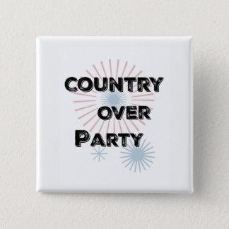 Land über Party Quadratischer Button 5,1 Cm