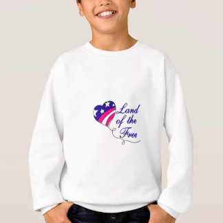 Land vom freien sweatshirt