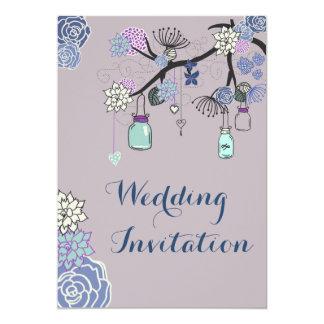 Land-Weckglas-Blumenhochzeit 12,7 X 17,8 Cm Einladungskarte