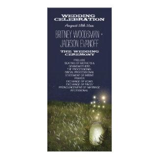 Land-Weckglas + Leuchtkäfer-Hochzeits-Programme Werbekarte