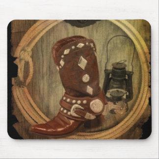 Land-Westernpferdecowboystiefel Lasso-Seil Mousepad