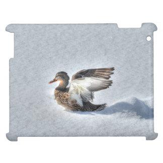 Landende weibliche Stockente ducken Foto der iPad Hülle