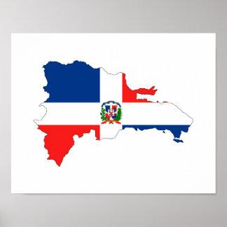 Landesflaggekarten-Formsymbol der Dominikanischen Poster