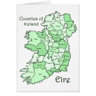 Landkreise von Irland-Karte Grußkarte