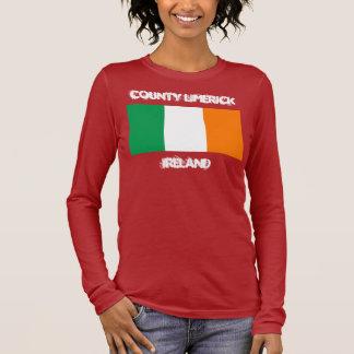 LandkreisLimerick, Irland mit irischer Flagge Langarm T-Shirt