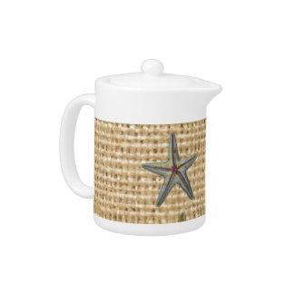 Landleinwandstrand-Chic Starfish des Seashell