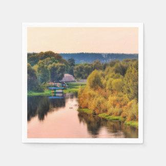 Ländliche Herbst-Landschaftspapierserviette Servietten