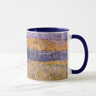 Landschaft bei Auvers im Regen, Vincent van Gogh Tasse