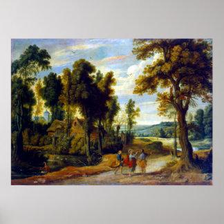 Landschaft Jan.s Wildens mit Christus und seinem Poster
