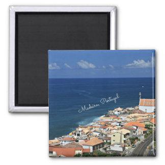 Landschaft Madeiras, Portugal Quadratischer Magnet