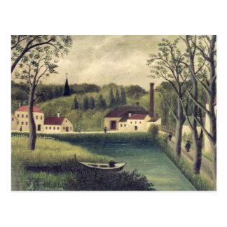 Landschaft mit einem Fischer, nach 1886 Postkarten