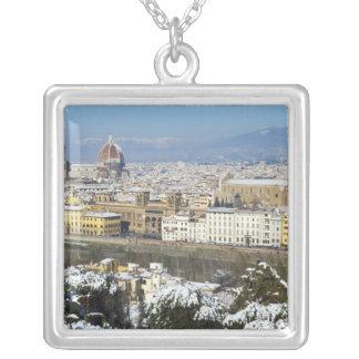 Landschaft von Florenz von Piazzale Versilberte Kette