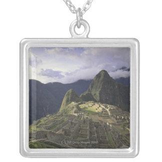 Landschaft von Machu Picchu, Peru Versilberte Kette