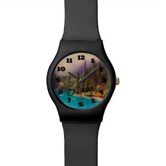 Landschaftliche Nordlandschaft rustikales Kanada Armbanduhr