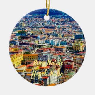 Landschaftliche Weihnachtsverzierung Neapels, Keramik Ornament