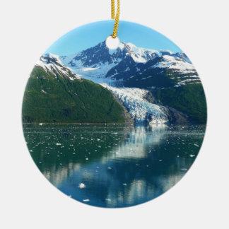 Landschaftliches Alaska Kreuzen des Uni-Fjord-I Keramik Ornament