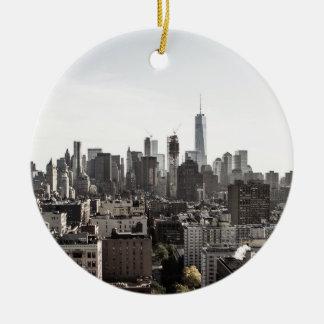 Landschaftsansicht von New York City Keramik Ornament