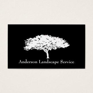 Landschaftsbaum-Abbau-Schwarz-Karte Visitenkarte