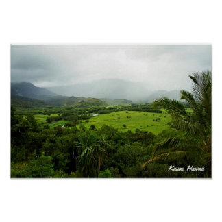 Landschaftsszene Kauais, Hawaii Poster